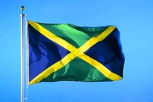 Jamaica Banner Free shipping 90*150cm Hanging National flag Jamaica Home Decorationbanner(China)