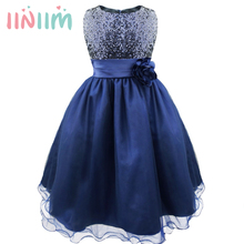 Girl Party Dress Christmas Sresses Summer Formal Girls Bridesmaid Clothes Junior Prom Gown Party Gifts Dresses Children Clothes(China)