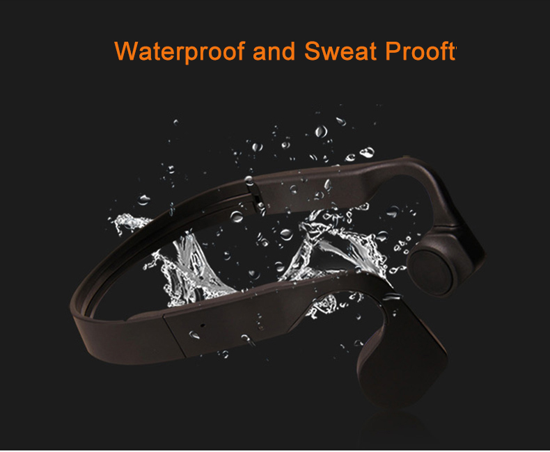 Blog.Fish Wireless Bone Conduction Waterproof Bluetooth Earphone Stereo headset wireless Sport Headphones With Mic For Running