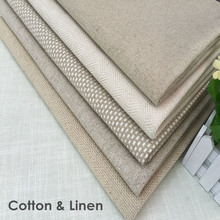 Contemporary Heavy Linen Cotton Fabric Natural Woven Upholstery DIY Eco-friendly Sofa Cover Fabric Width 145 cm Sell by meter