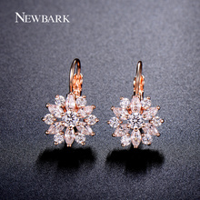 NEWBARK Luxury Ear Cuff Earring 6pcs Marquise CZ Formed Brilliant Flower Stud Earrings with Zircon Stone Women Birthday Gifts(China)