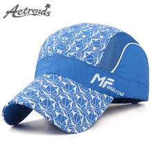 [AETRENDS] 2017 Summer Baseball Cap Mesh Breathable Snapback Hat Trucker Caps Men Women Summer Mesh Hat Z-5096()