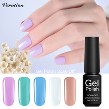 Verntion Vogue Manicure Set Semi Permanent Nail Gel Varnish UV Led Colors Gel Varnish Nail Soak Off Hybrid Uv Lacquers