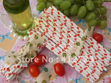 Paper Straws Red Hearts drinking party straws Valentine/Wedding festival favor decoration supplies 75pcs