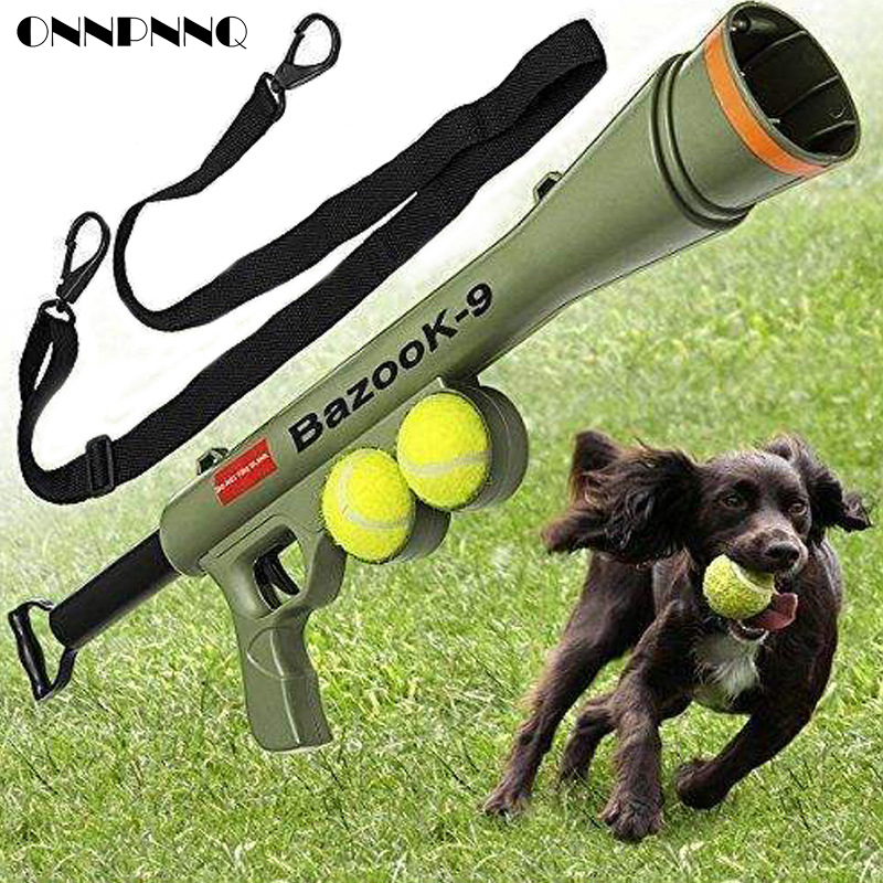 Funny Dog Tennis Ball Launch Gun for AK47 Pet Training Toy Remote Speed Agility Equipment Dog Interactive Toys Pet Shop Supplies