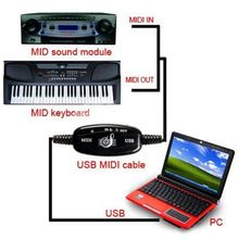 MIDI Cable For Electronic Organ Useful USB to MIDI Cable Interface Music Keyboard Adapter Converter For PC LKT
