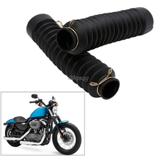 2Pcs/set Rubber Front Fork Motorcycle Dust Cover Gaiters Gators Boots Shock Absorber car-styling Drop shipping(China)