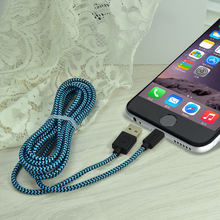 Colohas High Quality Braided 8Pin USB Data Sync Charging Cable Cords For iPhone 6 6s 7 Plus 5 5S 5C iOS 10 Wholesale Bulk Price