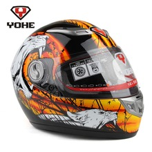 100% Genuine Fiberglass Motorcycle Helmets Racing Cyclist Full Face Capacetes Casco Yohe 927 Free Shipping