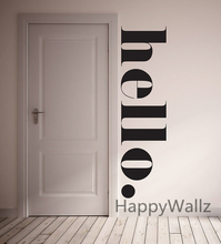 Hello Home Family Quote Wall Sticker Family Quote Wall Decal Decorating DIY Custom Colors Quote Wall Decal Q110(China)