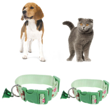 Christmas Pet Dog Cat Collar Adjustable Xmas Design Collars Small Bell Set S L  -Y102