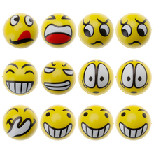12Pcs Soft Fun Emoji Face Balls Stress Relax Emotional Toys Office Holiday Gifts(China)