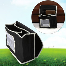 Durable Canvas Household Hanging Bedside Bed Sofa Storage Bag TV Remote Cosmetic Carry Toiletry Organizer