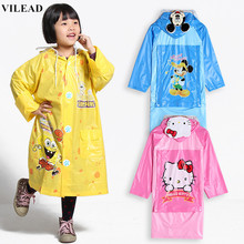 VILEAD Cute Cartoon Outdoor Children Boy Girl Rain Coat Kids Rain Poncho Jacket Windproof Waterproof Rainwear Suit for Children