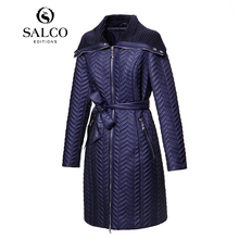 SALCO Free shipping 2015 new European and American fashion ladies long padded embroidery
