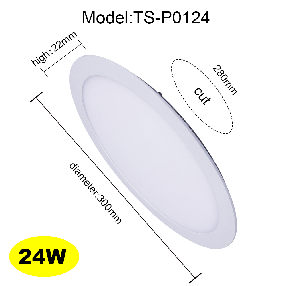 24W White Square led ceiling recessed Light led downlight LED flat lamp LED panel ceiling for bathroom<br>
