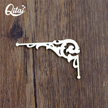 QITAI 36 Pieces/lot DIY Craft Products Wooden Photo Corner Wooden Veneer Shape Scrapbooking Embellishment WF073B(China)