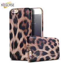 KISSCASE Luxury Leopard Patterned Case For iPhone 5S 5 SE 6 6S Plus Soft Silicone Back Cover Cases For iPhone 6s 6 Bags Capinhas(China)