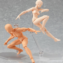 Anime Action Figure Toys Artist Movable Limbs Male Female 15cm joint body Model Mannequin Art Sketch Draw kawaii Action Figures(China)