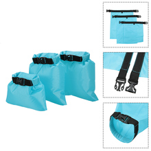 3pcs PU Dry Bag 1L+2L+3L Waterproof Dry Bag Outdoor Ultralight Dry Sack Polyester Kayaking Travel Camping Swimming Climbing Bag