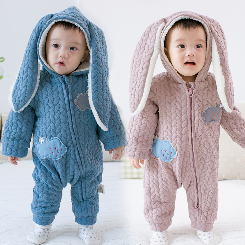 Baby  Winter  Infant Snowsuit Thick Romper for Boy Girl Clothes Combed Cotton Animal Warm Long Sleeve Hooded Jumpsuit Outerwear<br><br>Aliexpress