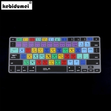 US EU Version European Silicone Keyboard Cover for Macbook Air Pro 13 15 17 Adobe Premiere Design Shortcut Skin Laptop Covers(China)