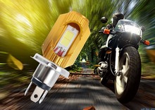 Free shipping Motorcycle Headlight Bulb H4 Led 12W 1200LM Hi/Lo Scooter Moto ATV 6000K Light Replace For Halogen Headlamp