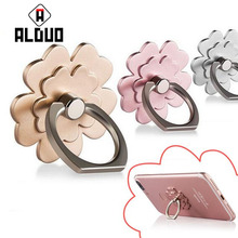 ALANGDUO Mobile Phone Holder Stand Finger Ring Stent by For iPhone Smart Phone For iphone 6s 7 Metal phone stand for xiaomi(China)