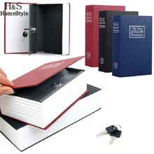 Dictionary Book Secret Hidding Security Safe Lock Cash Money Jewellery Locker Box 3 Colors for Choice(China)