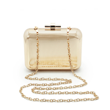 Brand Bag Women Hard Box Handbag Fashion Solid Color Women Bag Two Color High Quality Party Purses(C771)