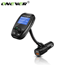 Onever Quick Charge 3.0 Bluetooth FM Transmitter Hands Free Car Kit Radio Modulator Audio MP3 Player Support Flash Drive TF Card(China)