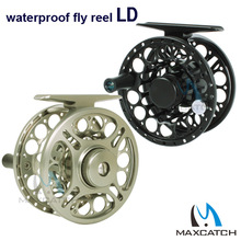 LD 2/3, 3/4, 5/6, 7/8 WT Fly Fishing Reel Saltwater Waterproof CNC Machine Cut Aluminum Alloy Fly Reel Coil Molinete Pesca 2+1BB