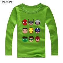 SAILEROAD Captain America Children Boy's Long Sleeve T-shirts Toddler baby T shirts Hot Sale Kids Girls T Shirts 18M To 13Years(China)