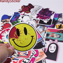 50 new mixed Sticker for Snowboard Skateboard Laptop Luggage Car Fridge Phone DIY toy Styling Vinyl Decal home decor Sticker