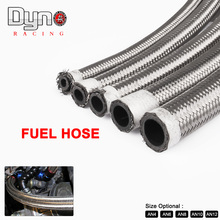 1M AN4-AN12 Stainless Steel Universal Oil Hose End Fuel Hose Double Braided Fuel Line Turbo Oil Cooler Hose 1500 PSI HF046