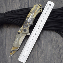Survival Knife STRIDER Pocket Folding Titanium coating Steel Blade Knifes Hunting Tactical Knives Camping Outdoor EDC Tools s009(China)