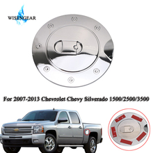WISENGEAR Triple Chrome Plated ABS Fuel Tank Gas Door Cover Oil Filler For Chevrolet Chevy Silverado 1500 2500 3500 2007 - 2013