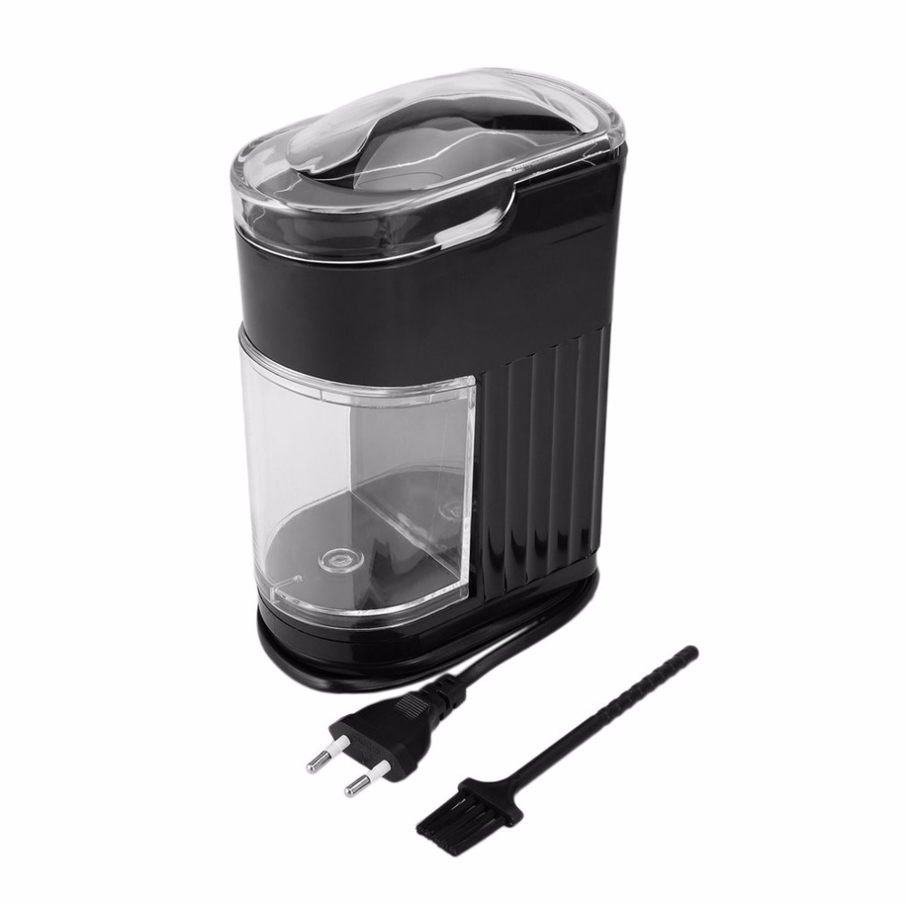 220V Household Electric Coffee Grinder Stainless Steel Blade Bean Spice Maker Grinding Machine Rapid Autonmatic Coffee Mill<br>