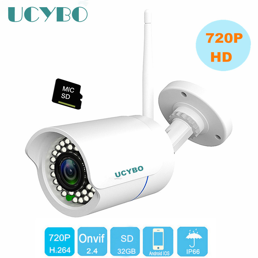 WIFI Wireless IP Camera 720P HD outdoor TF SD Card  CCTV security surveillance wifi smart camera CamHi compatible w/ hikvision<br>