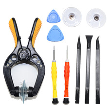 10 in 1 Mobile Phone Spudger Repair Tools Kit Pry Suction Opening Plier LCD Screen Tool Screwdriver Disassembly For iPhone iPad
