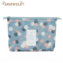 DINIWELL Travel Storage Bag Zipper Polyester Cosmetic Organizer Waterproof Mesh Cosmetic Bags Container