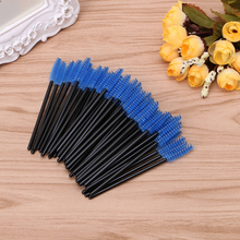 50Pcs Mini Eyelash Disposable Mascara Wand Applicator Brush Extension Makeup Set(China)