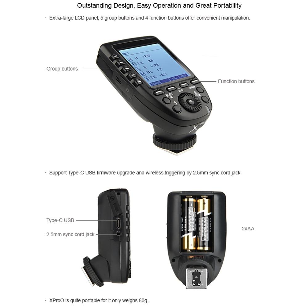 Godox Xpro-O 2.4G wireless X system TTL HSS Camera Flash Transmitter (45)