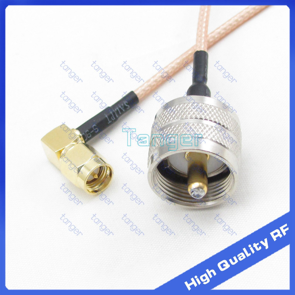 Hot UHF male PL259 PL-259 to SMA male plug right angle connector with 20cm 8 RG316 RG-316 RF Coaxial Pigtail cable high quality<br><br>Aliexpress