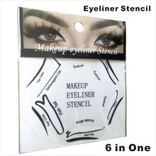 1 PC per Set  Makeup used Eyeliner Stencil with Cat Fish Double Wing Template Eyeliner Stencils 6 in 1