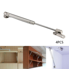 4Pcs 100N/10kg Metal Door Lift Support Kitchen Cupboard Hinges Gas Hydraulic Spring Hinge For Cabinet Door(China)