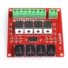 New electronic building block 4 way switch IRF540 switch MOSFET isolation power module