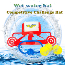 Wet Head Water Hat Target Game Kids Family Friends Party Funny prank Challenge Hat Toy glasses cap toys In/outdoor sport game #E