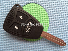 1pcs of  New Replacement Key Case For Chrysler 3 Button Remote Key Case Shell for Dodge with uncut blade for jeep keyless