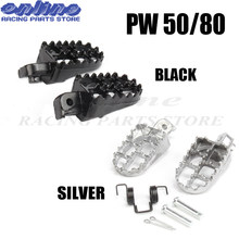 Motorcycle bike PW50/80 Foot Pegs Rests For Yamaha PW50 PW80 TW200 PW 50 80 TW 200 DIRT Bike(China)